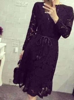 Dress Hitam Bunga dress hitam motif bunga brokat 2016 jual model terbaru
