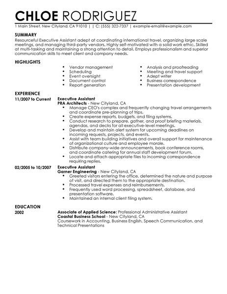 Best Resume Advice 2017 by Best Executive Assistant Resume Example Livecareer