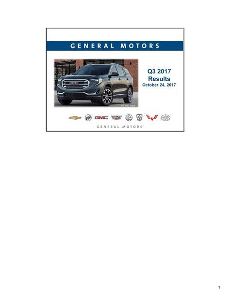 call general motors general motors company 2017 q3 results earnings call