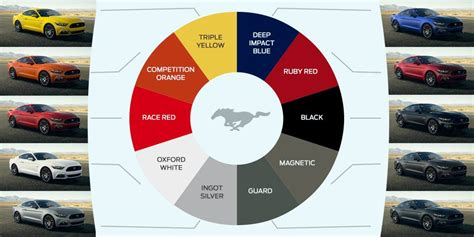 2015 ford mustang color chart mustang performance parts