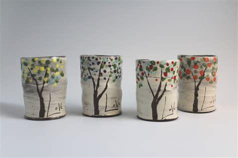 Ceramic Mug fruit trees mug set by noelle hendrick and eric