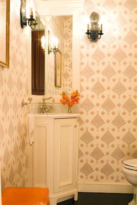 powder room corner cabinet corner vanity traditional bathroom kate coughlin