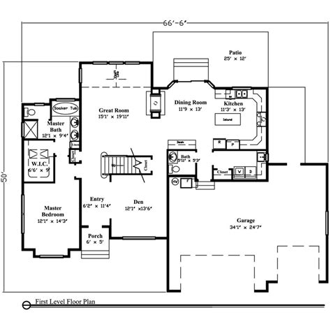 1 story ranch style house plans house plan ranch style house plans 3000 square foot home 1 story 4 bedroom 1 story