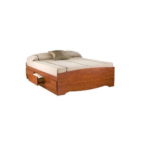 platform bed kit queen bookcase platform storage bed in cherry cbq 6200 kit