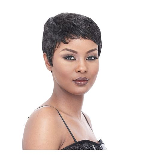 short weavons short wigs it s a wig cap weave human hair short sassy