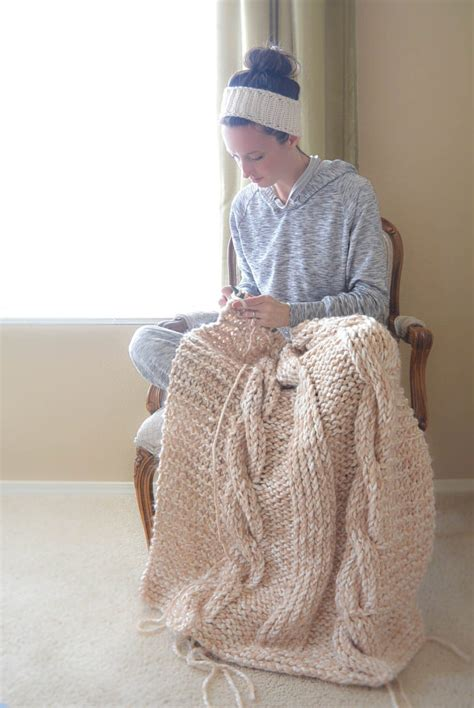 how to knit an afghan endless cables chunky knit throw pattern in a stitch