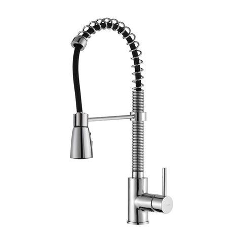 commercial style kitchen faucets kraus commercial style single handle pull down kitchen