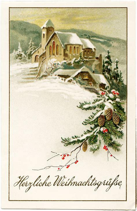 images of vintage christmas scenes german christmas postcard vintage christmas clip art