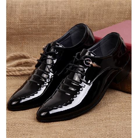 Sepatu Fashion Glossy Br8297 jual sepatu kerja pria glossy