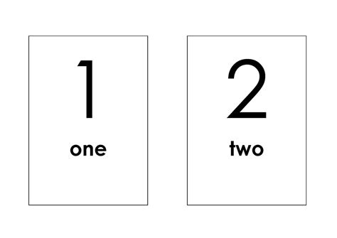 Number Cards 0 9 Template by Printable Number Flash Cards 1 10