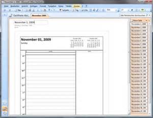 Onenote Weekly Planner Template November 2009 Tageskalender Vorlage F 252 R Office Onenote