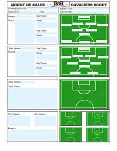 scout templates soccer scouting template other designs