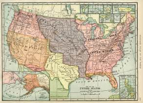 united states map history united states map vintage map antique map