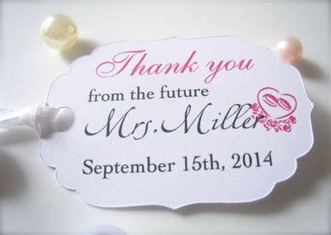 thank you tags for bridal shower favors bridal shower favor tags custom thank you tags favor