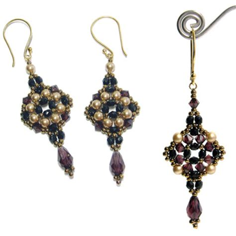 beading patterns for earrings around the beading table new pattern uploaded tuscan