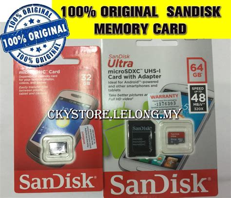 Micro Sd Sandisk Cl10 80mbps 32gb Sandisk Micro Sd Sdhc Sdxc Memory Car End 2 4 2018 5 15 Pm