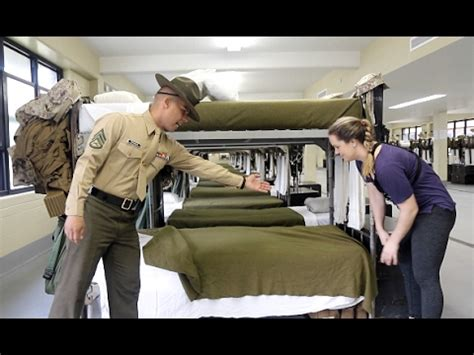 military bed making u s marine tries to teach reporter how to make a military
