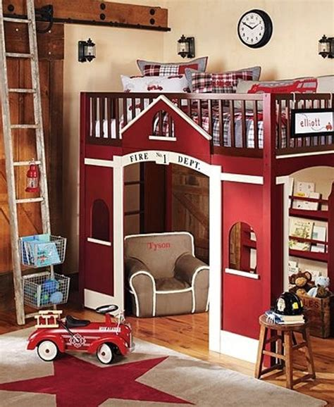 firetruck bedroom 35 cool kids loft beds kidsomania