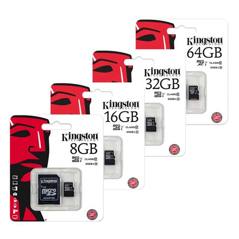 Micro Sd Kingston kingston micro sd sdhc memory cards uhs 1 class 10 7dayshop