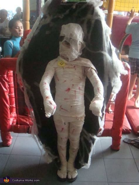 homemade mummy costume  kids