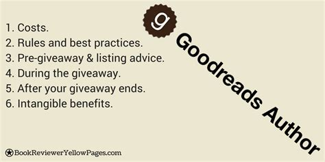 Goodreads Sweepstakes - goodreads giveaway essentials bookrevieweryellowpages com
