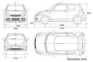 new car dimensions suzuki sport 2006 blueprint free
