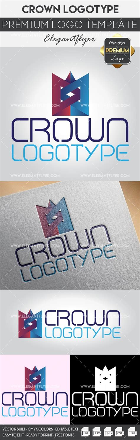 Crown Premium Logo Template By Elegantflyer Premium Logo Templates