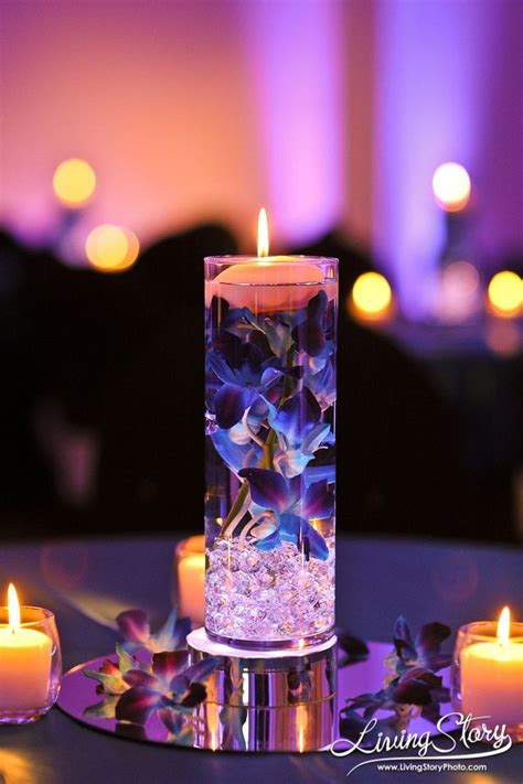 wedding reception centerpieces floating candles 37 floating flowers and candles centerpieces shelterness