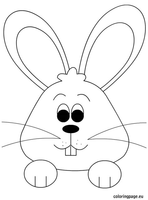 rabbit head coloring page best photos of easter bunny ears coloring pages bunny