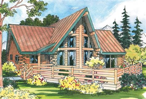 A Frame House Plans With Loft Altamont 30 012 A Frame House Plans Log Home