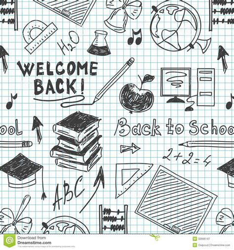 web pattern notebook seamless pattern back to school in a notebook royalty free