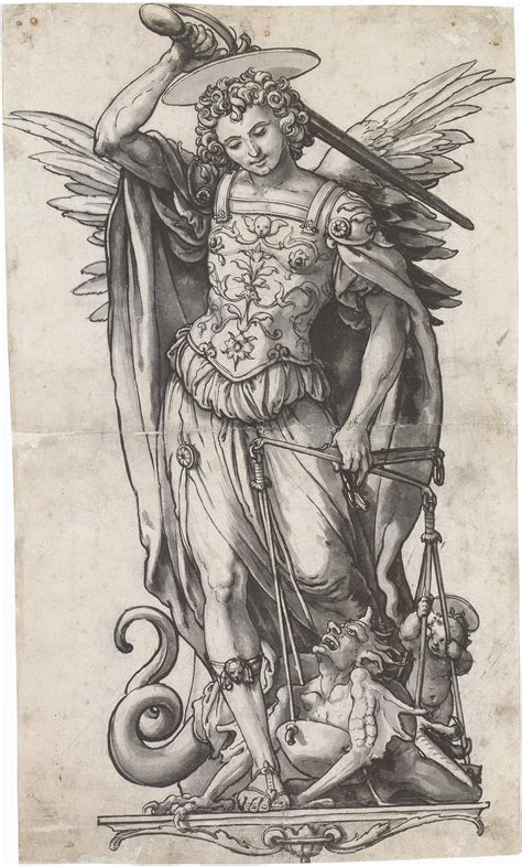Archangel Michael file the archangel michael weighing souls by hans holbein