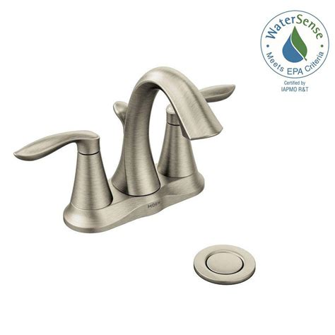 moen kitchen faucet brushed nickel moen eva 4 in centerset 2 handle high arc bathroom faucet