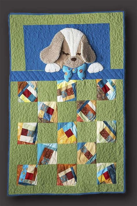 baby coverlets 3d puppy quilt baby quilts pinterest