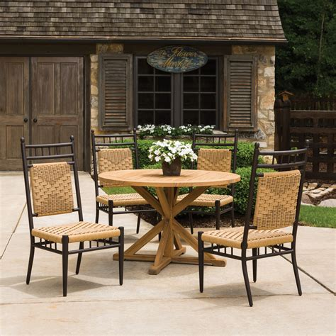 Country Patio Furniture Lloyd Flanders Low Country 5 Woven Vinyl Patio Dining Set Lf Lowcountry Set8