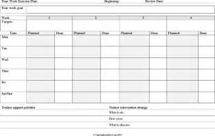 exercise session plan template the four week exercise plan template can help you make a