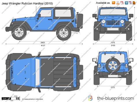 4 door jeep drawing jeep wrangler rubicon hardtop vector drawing