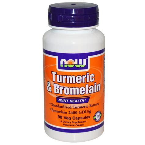 Suplemen Bromelain Now Foods Turmeric Bromelain 90 Veggie Caps Iherb