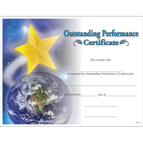 outstanding performance certificate template outstanding performance certificate jones school supply