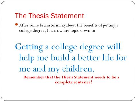 build a thesis statement create thesis statement 28 images essay ppt how to