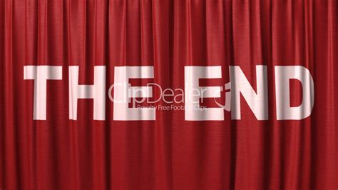 the end curtains closing red curtain with title quot the end quot royalty free