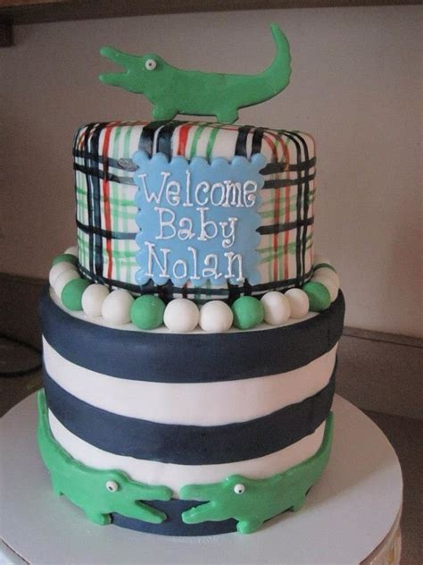 Alligator Baby Shower by Alligator Baby Shower Cake Baby Shower Cakes And
