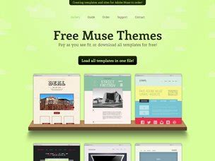 Muse Templates Free site for muse high quality free templates for adobe muse