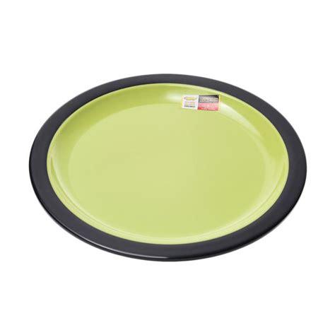 Piring Makan 9 P0109 Golden jual golden melamine piring datar hitam hijau 9