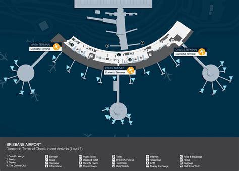 map world brisbane brisbane airport map
