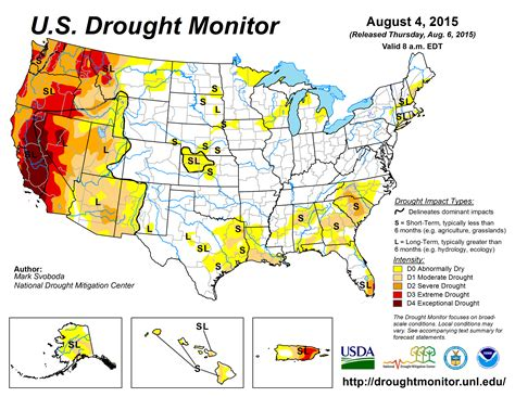 us weather drought map synoptic discussion july 2015 state of the climate