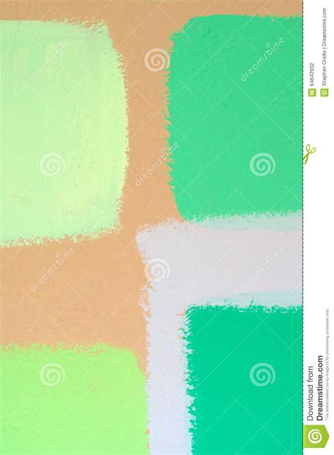 green paint swatches swatches of green paint on wall stock photo image 64642932