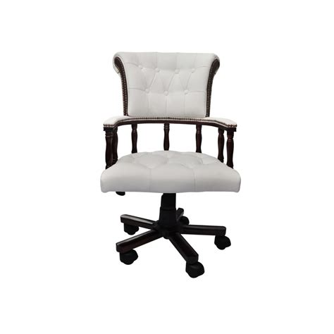 Chesterfield Captains Swivel Office Chair White Www Chesterfield Swivel Chair