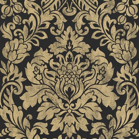 wallpaper designs b q graham brown artisan black gold gloriana metallic