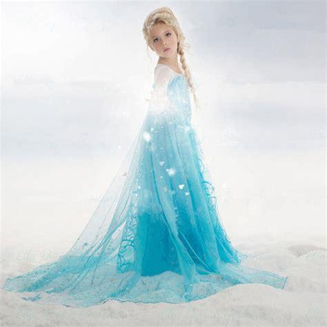 Elsa New 4 Grey מוצר 2017 new summer elsa dress for 3 10 yrs children elsa princess dresses